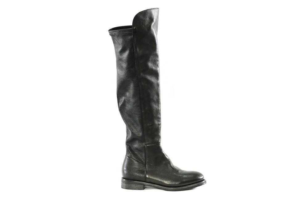 Metisse-Calzatura Donna Stivale Vitello/Nero+Nappa Elasticizzata TR24