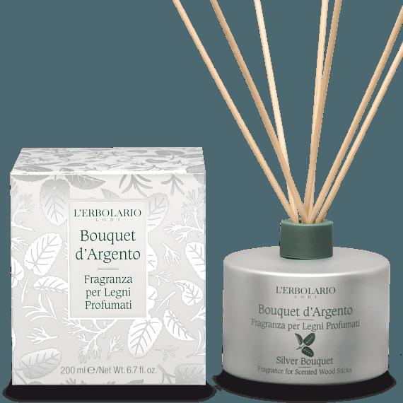Fragranza per Legni Profumati Bouquet d'Argento L'Erbolario