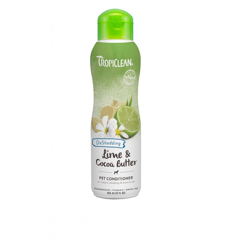 TROPICLEAN DE SHEDDING CONDITIONER SHAMPOO PER CANI LIME E COCOA BUTTER 355 ml