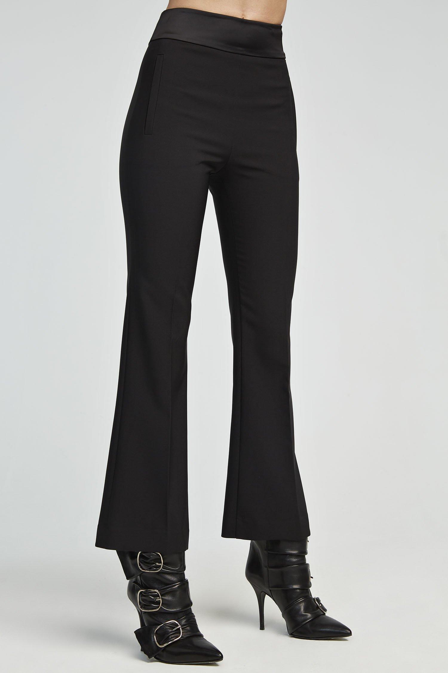 Pantaloni a zampa neri Aniye By.
