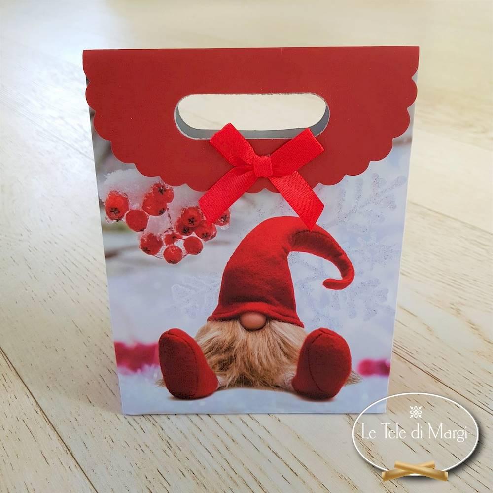 Sacchetto regalo Gnometto seduto piccolo