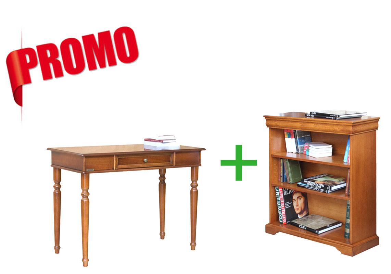 MON BUREAU CHEZ MOI - Bureau 1 tiroir et bibliothèque basse