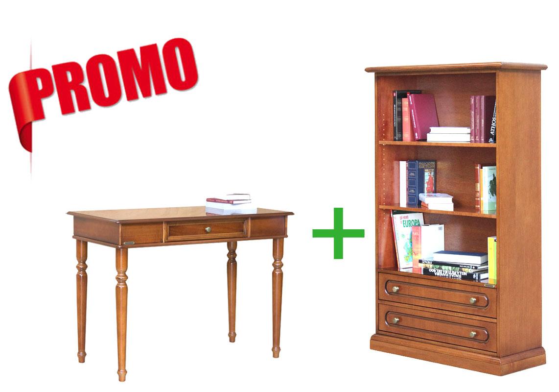 MON BUREAU CHEZ MOI - Bibliothèque 2 tiroirs et bureau classique