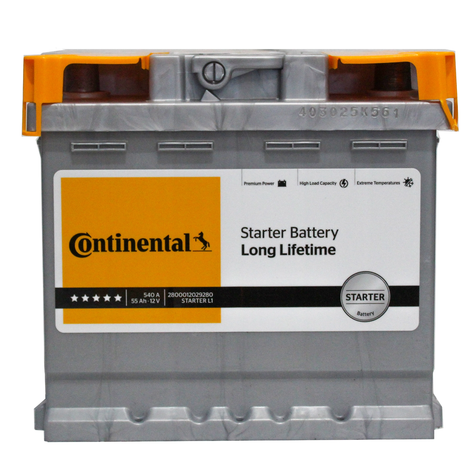 Batteria Continental 55Ah 540A 2800012029280 L1