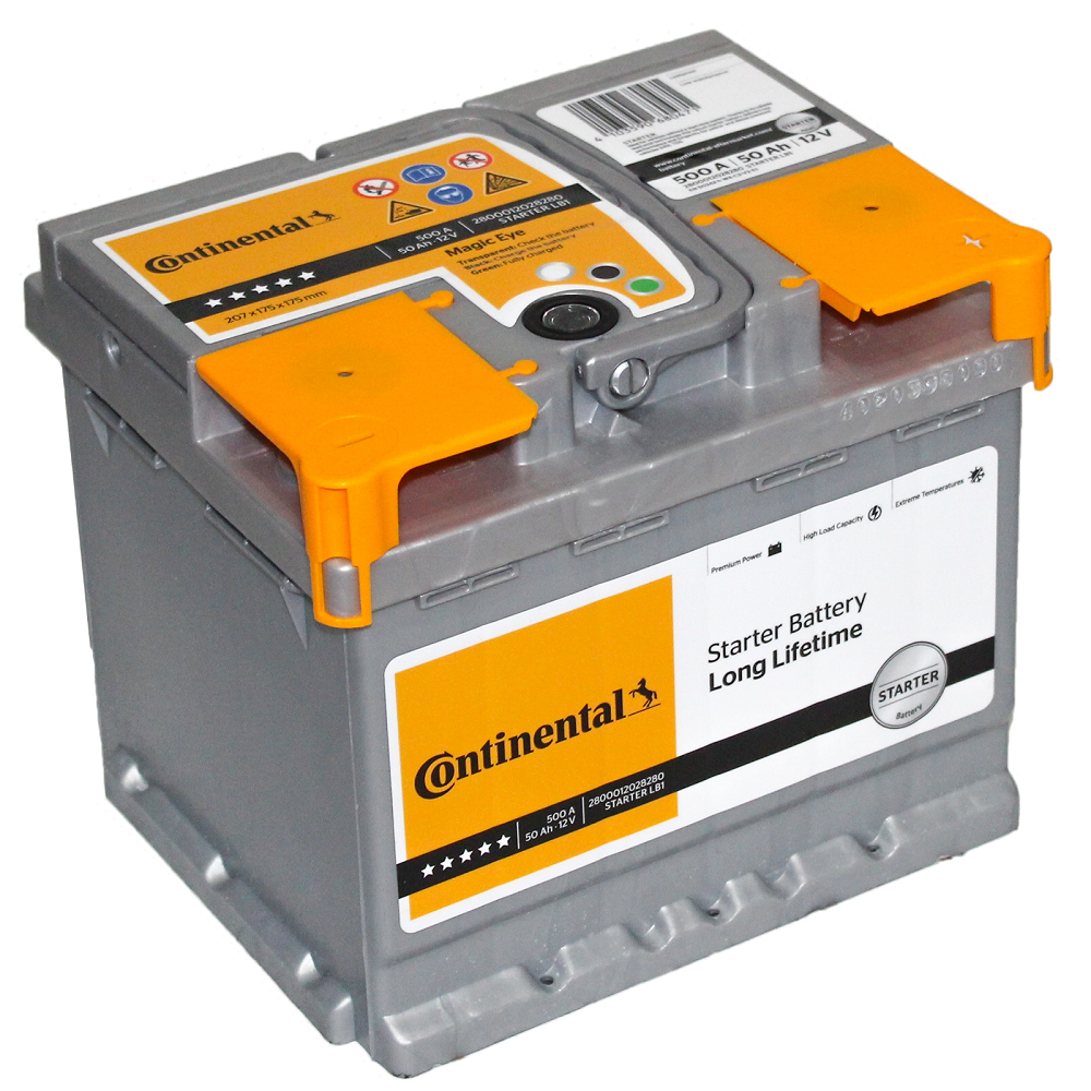 Batteria Continental 50Ah 500A POSITIVO A DX 2800012028280 L1