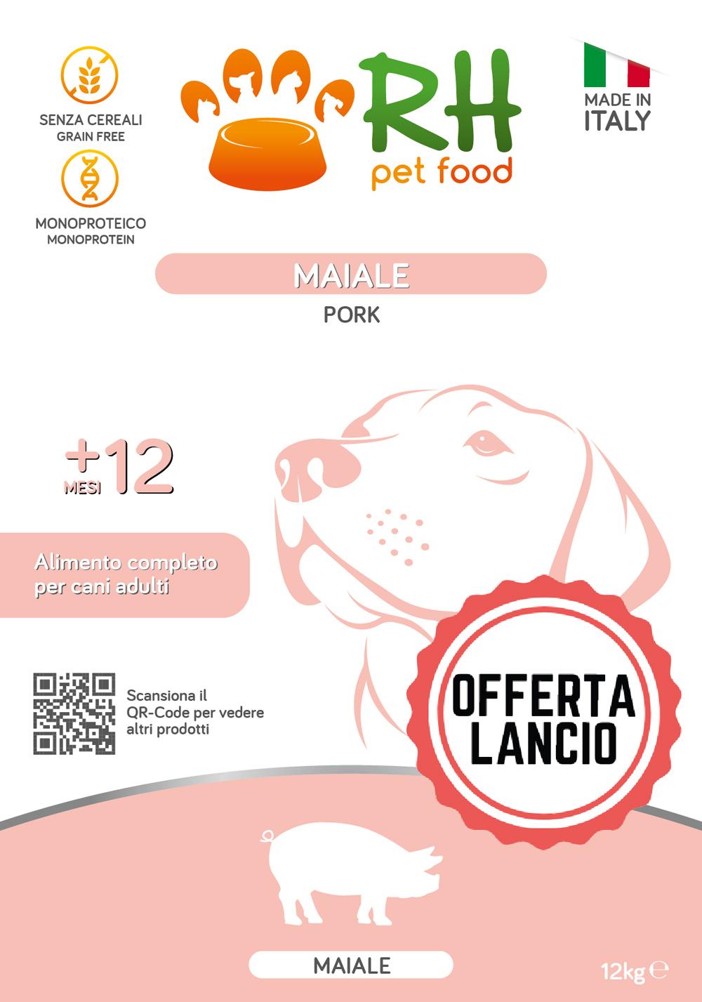 OFFERTA LANCIO maiale Grain free monoproteico 12kg