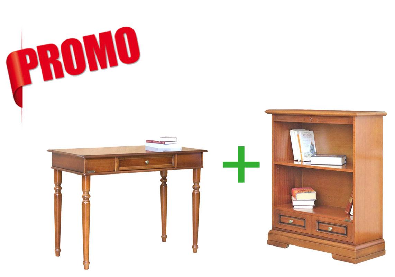 [L'ufficio in casa] - Scrittoio + libreria bassa con cassetto
