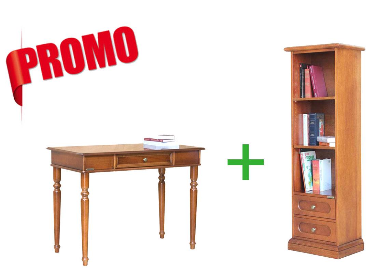 [L'ufficio in casa] - Scrittoio + piccola libreria a colonna