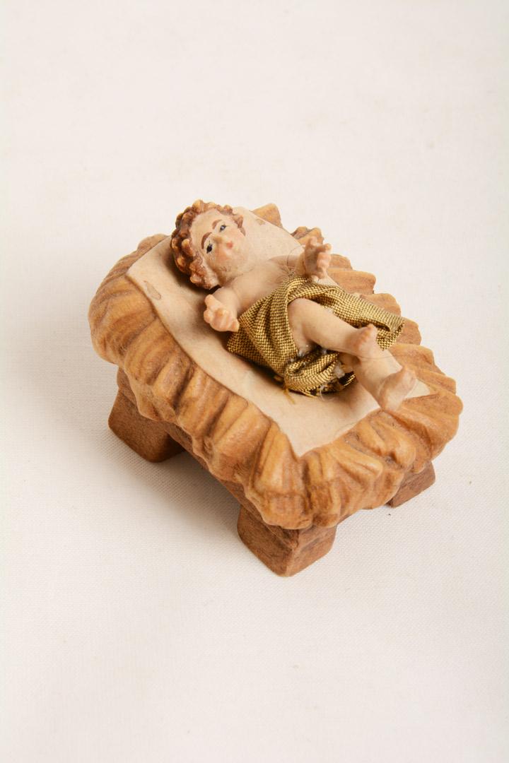 Gesù Bambino con culla Dolfi Legno cm 5