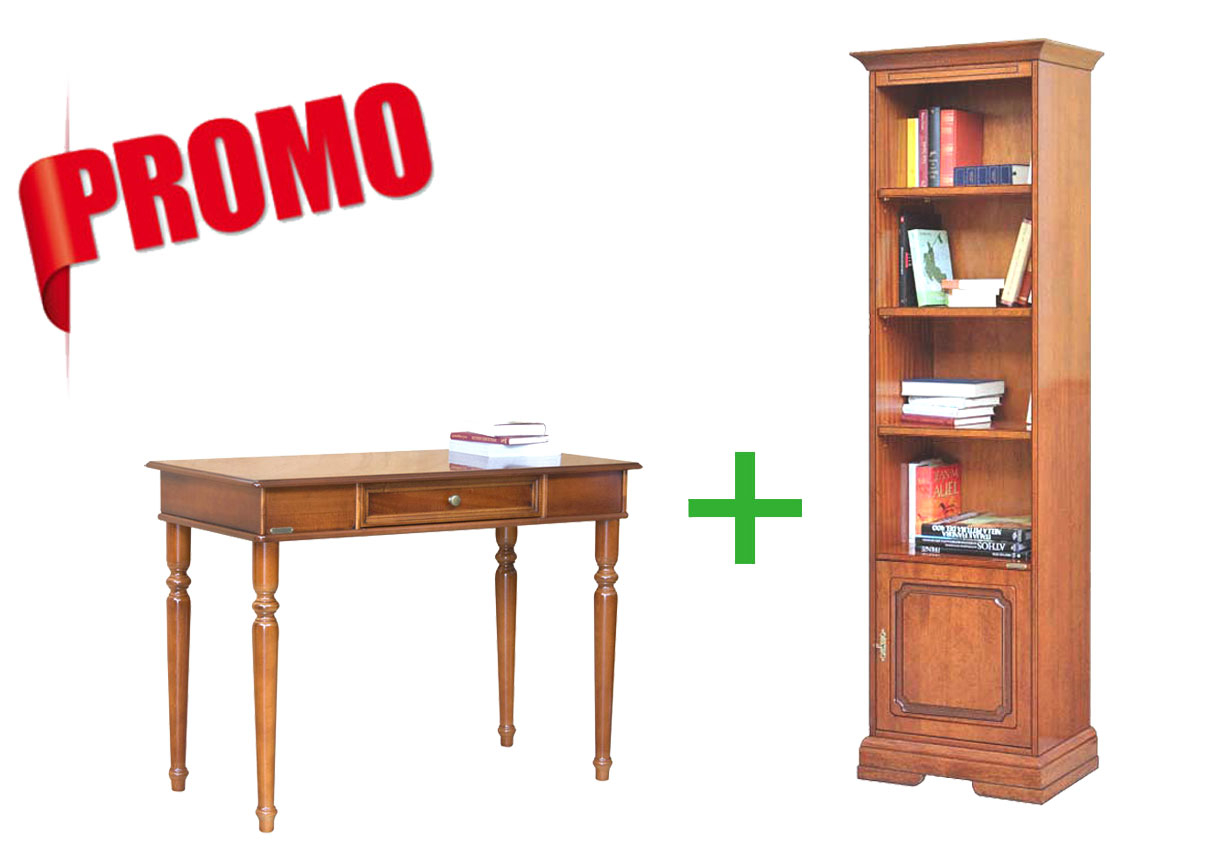 [HOMEOFFICE] - Desk + Space saving bookcase with door