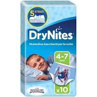DRYNITES M BOY 4-7tg 17-30kg x10pz