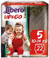 LIBERO UP&GO 5  10-14kg x22pz