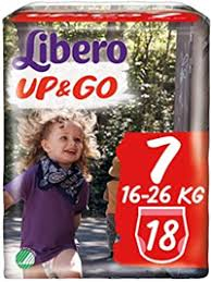 LIBERO UP&GO 7  16-26kg x18pz