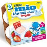 MERENDA FRAGOLA E LATTE 4x100gr