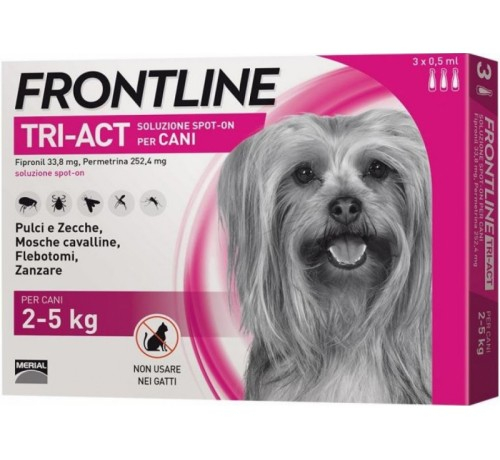 Frontline tri-act Cani 2-5 kg 3 pipette