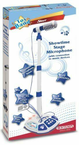 Microfono da palcoscenico con 3 effetti musicali e luminosi 401042 BONTEMPI NEW