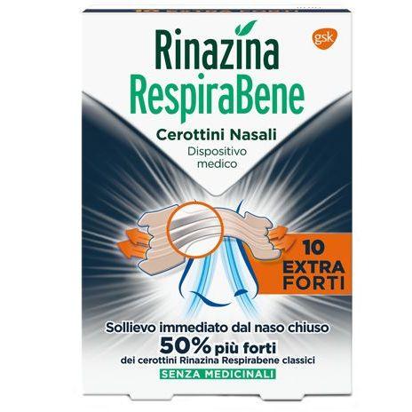 RINAZINA RESPIRA BENE 10 CEROTTI NASALI EXTRA FORTI