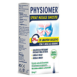 PHYSIOMER SPRAY NASALE SINUSITE 24H DI RAPIDO SOLLIEVO 50MG