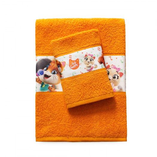 Asciugamano 1+1 44 gatti 100% cotone