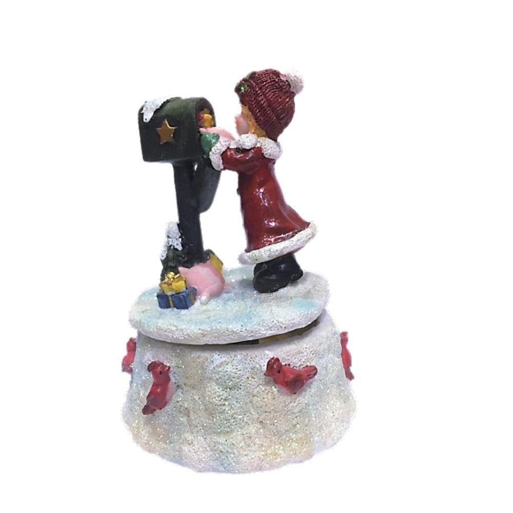 Carillon con bimba e cassetta della posta Natale