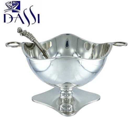 Zuccheriera a fazzoletto in argento 800 stile inglese con cucchiaino