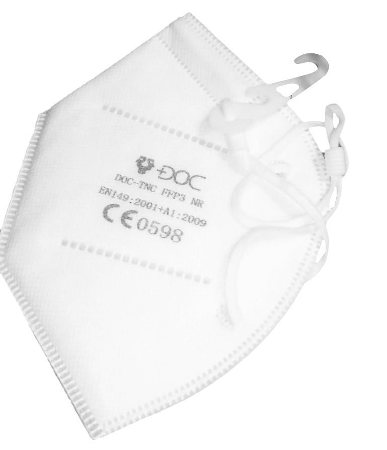 Mascherina di protezione per viso bianca FPP3  pz-30
