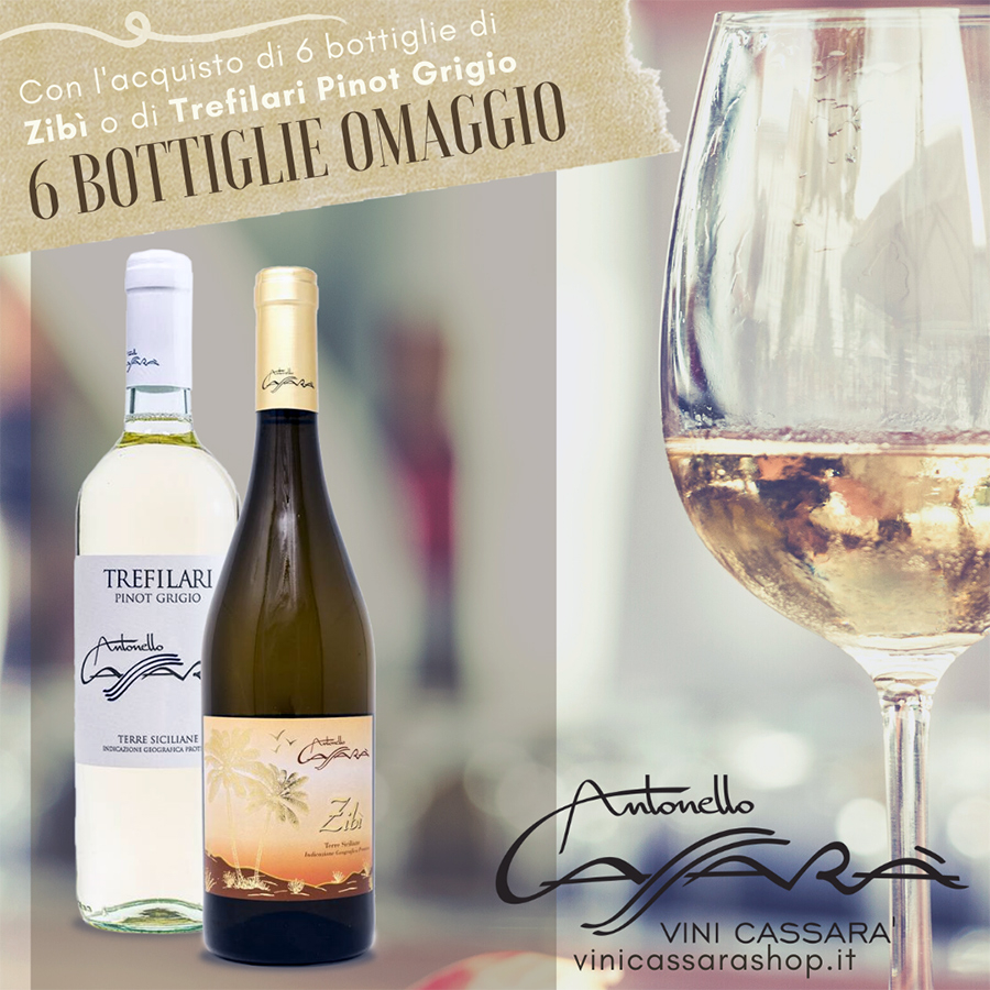 Promo 6 bottiglie Trefilari Pinot Grigio + 6 bottiglie omaggio