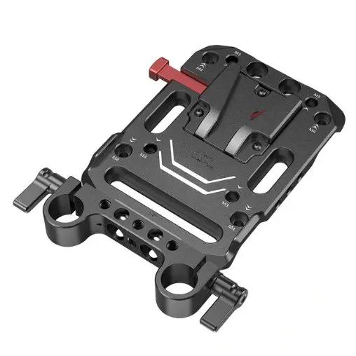 Piastra per batteria V mount con clamp per asta da 15 mm 3016