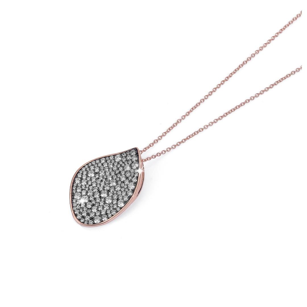 BROCCHI, collana argento e zirconi