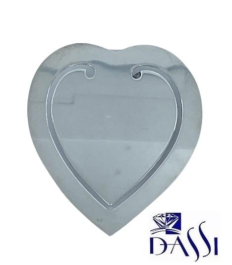 Segnalibro in argento 925 a forma di cuore.