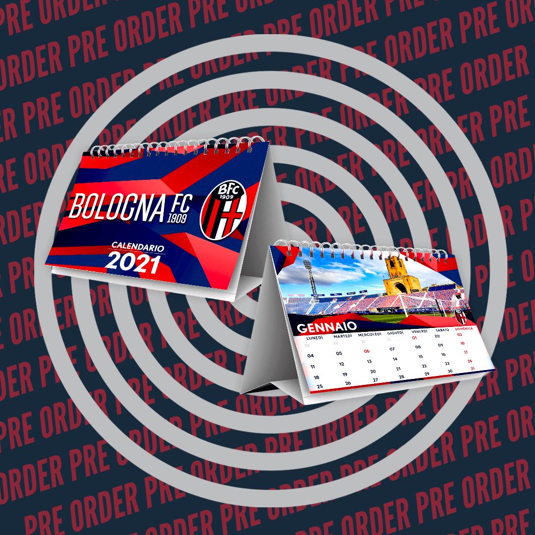 PRE ORDER MINI CALENDARIO 2021 Bologna Fc