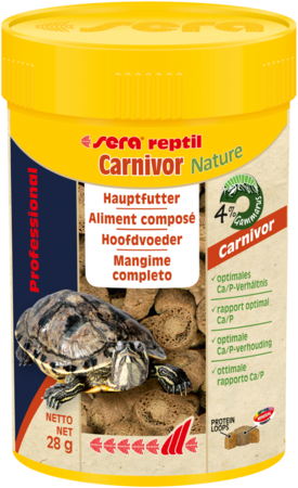 Sera reptil Professional Carnivor Nature mangime  per rettili carnivori e tartarughe acquatiche
