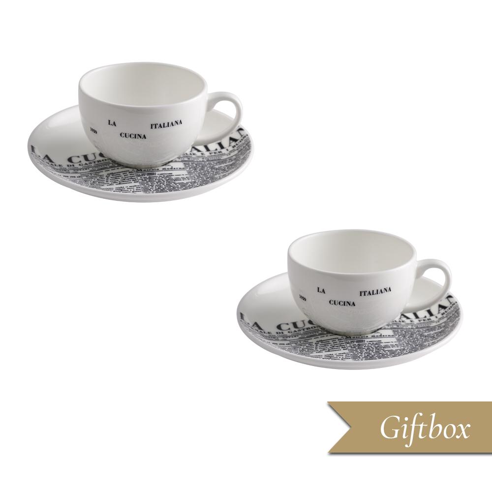 Set caffè 4 pezzi in Giftbox GCV | Geometric | La Cucina Italiana