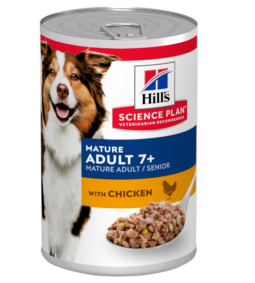 Hill's - Science Plan Canine - Mature 7+ - Pollo - 370g x 24 lattine