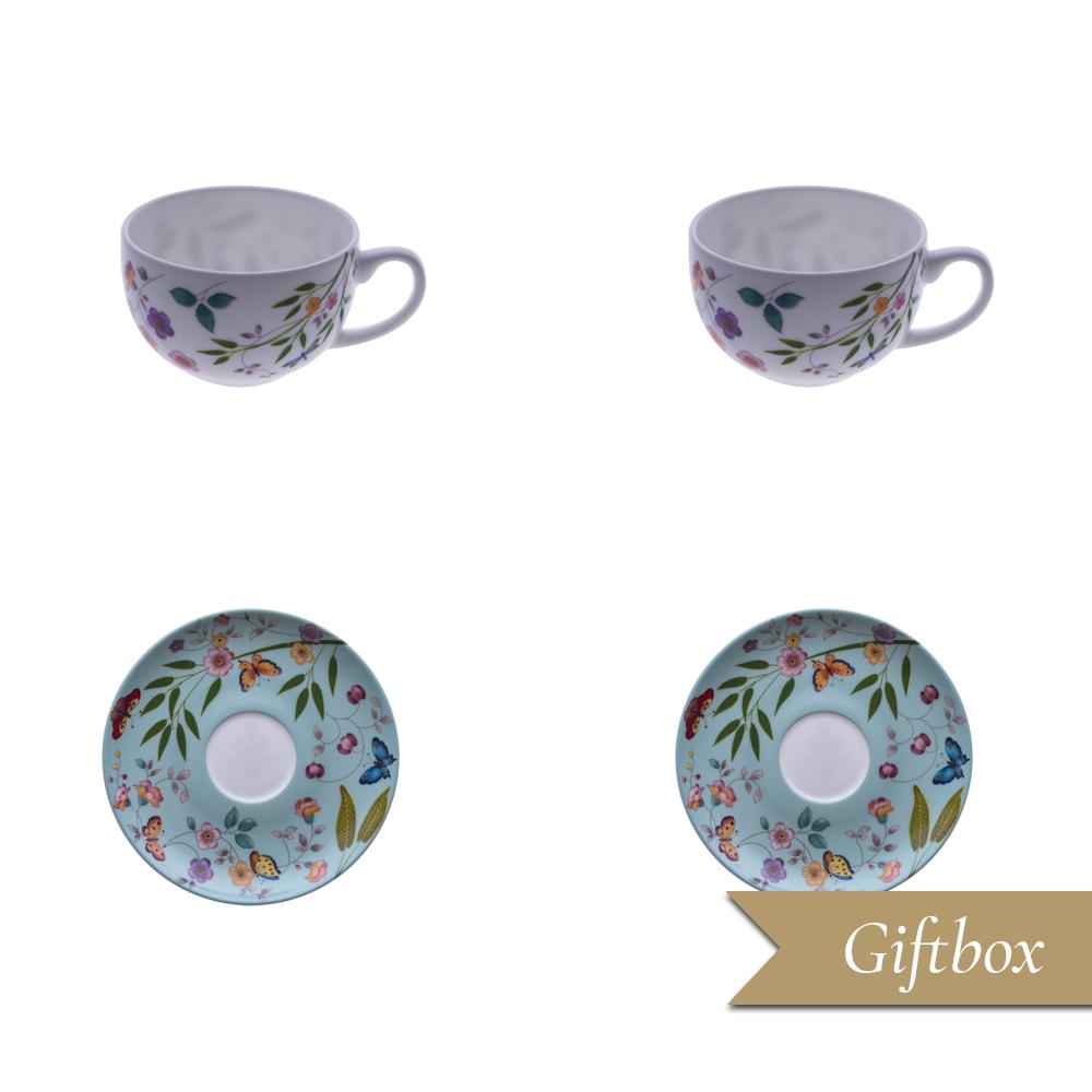 Set caffè 4 pezzi in Giftbox GCV | Incanto di Primavera