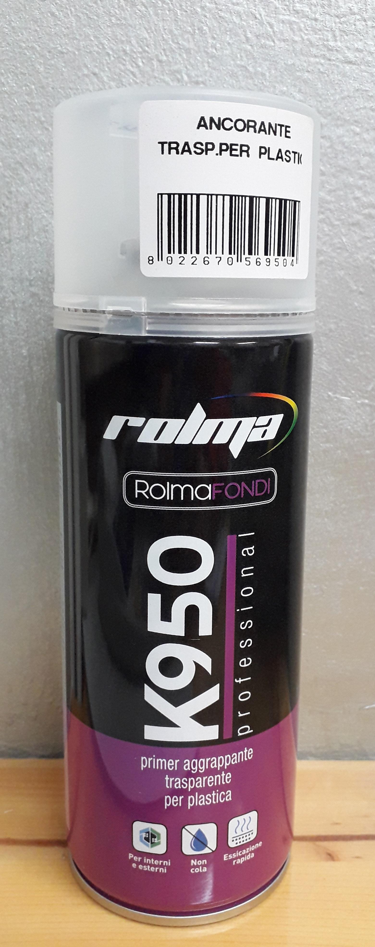 Bomboletta spray K950 ancorante trasparente per plastica