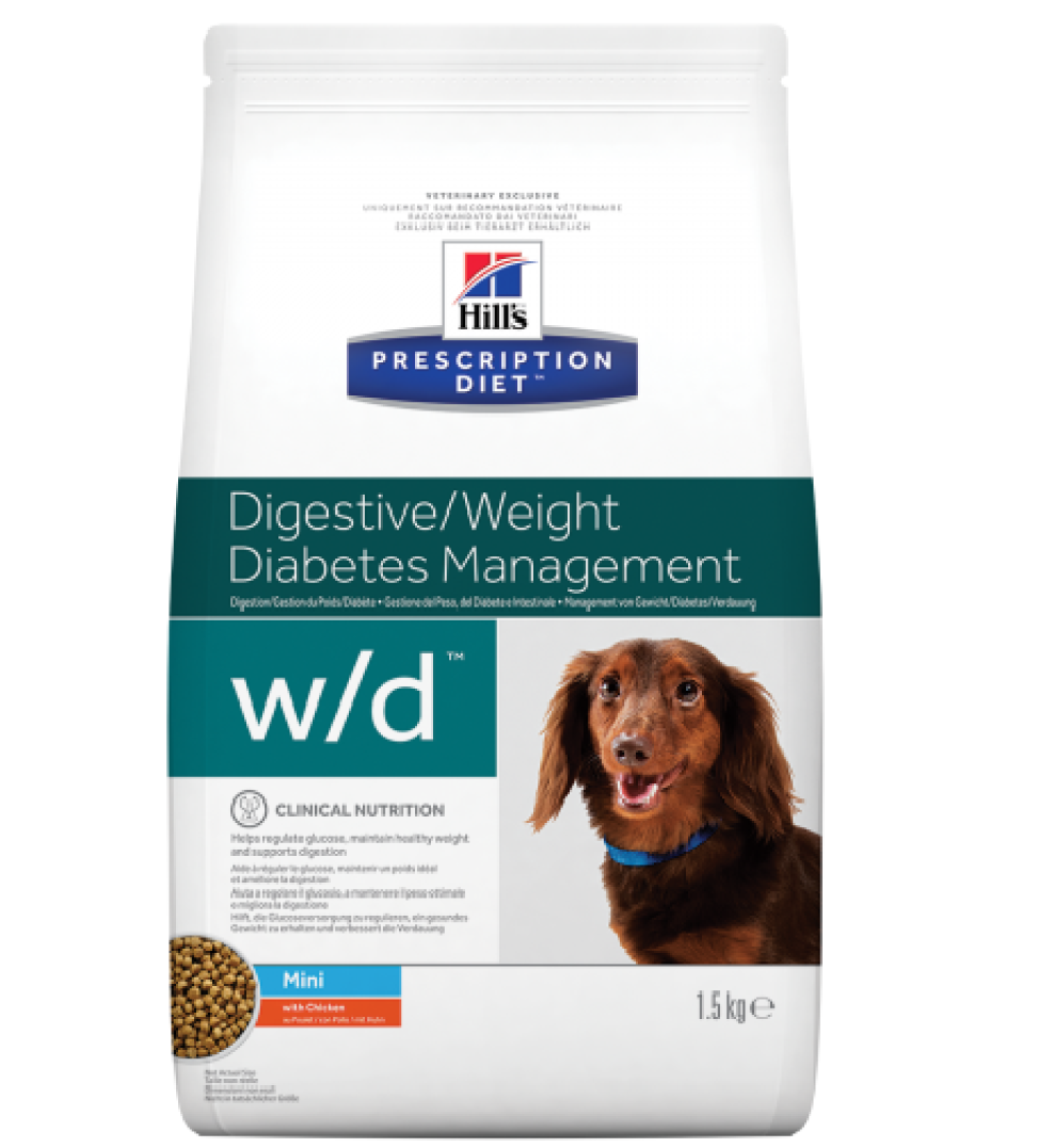 Hill's - Prescription Diet Canine - w/d Mini - 6 kg x 2 sacchi