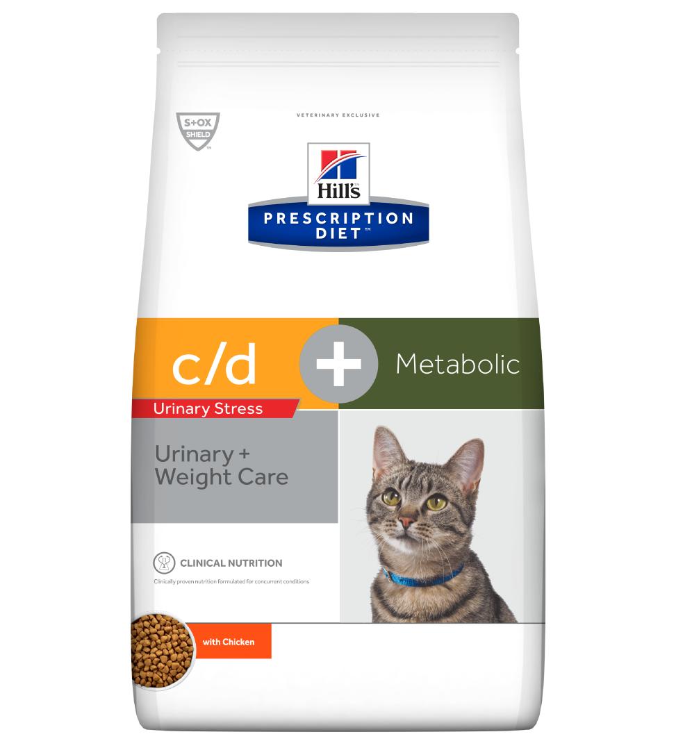 Hill's - Prescription Diet Feline - c/d urinary stress + Metabolic - 4 kg x 2 sacchi