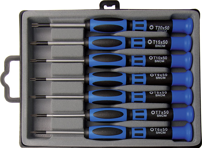 Set cacciaviti per elettronica Torx BGS 7967