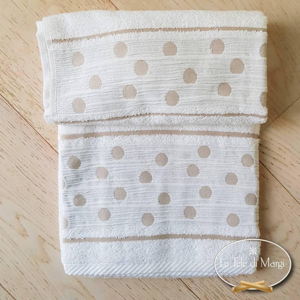 Asciugamani Pois Bianco