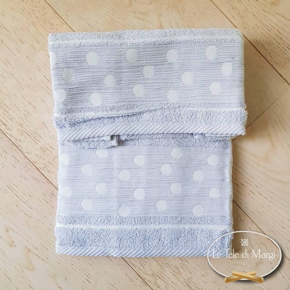 Asciugamani Pois Grigio polvere