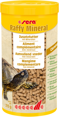 Sera Raffy Mineral 1000ml (215g) mangime a granuli per tartarughe acquatiche e iguana