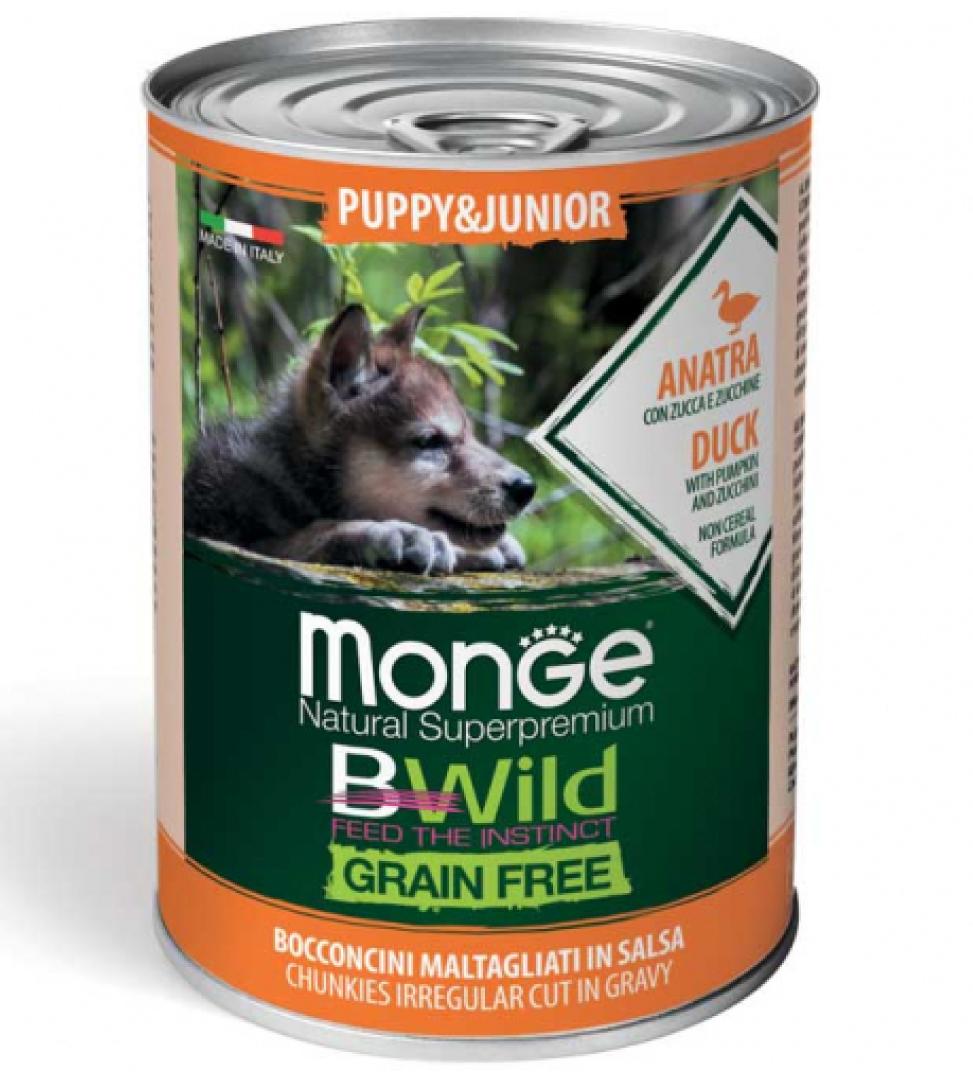 Monge - Bwild Grain Free - Puppy&Junior - 400g x 6 lattine
