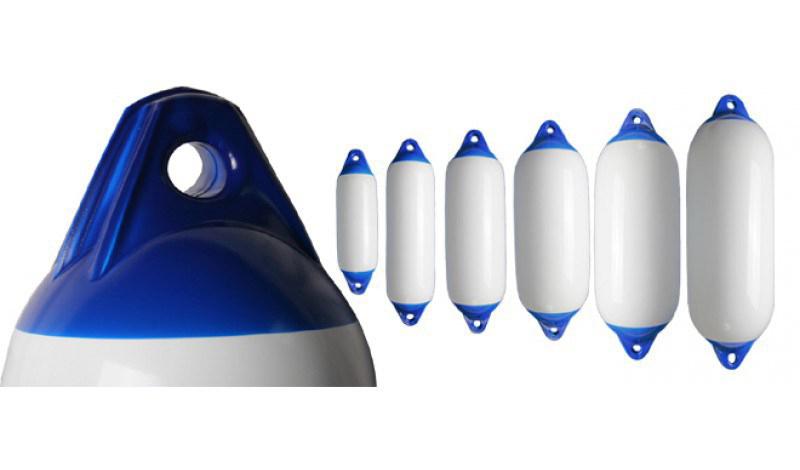 Parabordo Majoni bianco con testa blu F2 180X600
