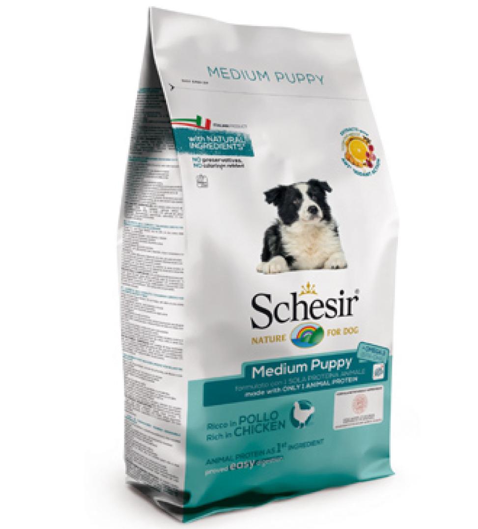 Schesir Dog - Medium Puppy - Pollo - 12 kg x 2 sacchi
