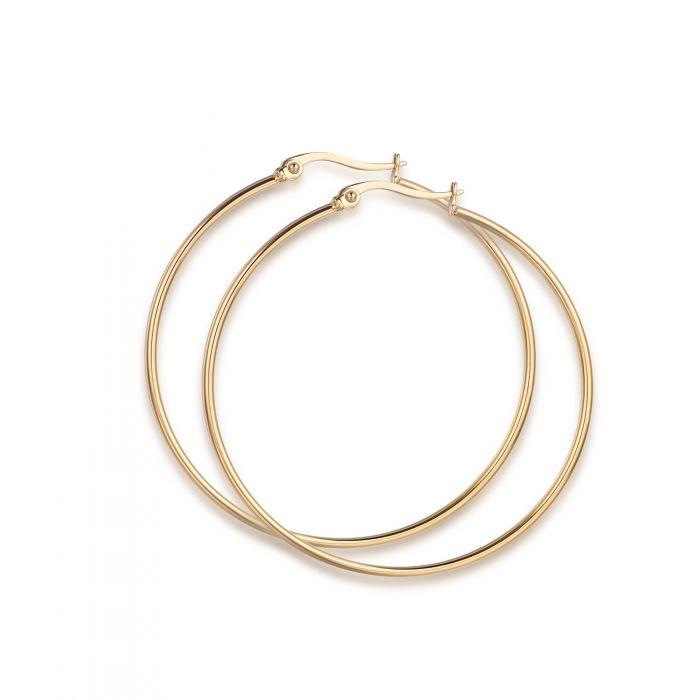 Luca Barra - Orecchini cerchio in acciaio dorato diametro 54mm