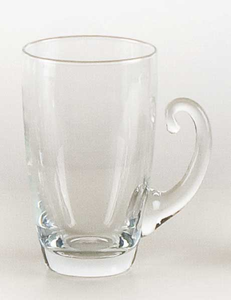 Glass cup with handle (6pcs)