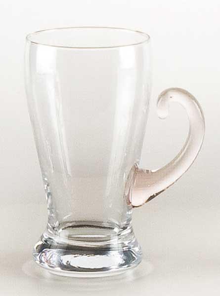 Tasse Glas Mars groß mit farbiger Griff (6stck)
