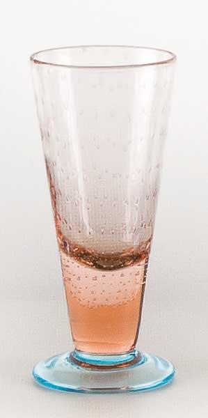 Glass blown Ice cream cup Pink Light Blue (6pcs)