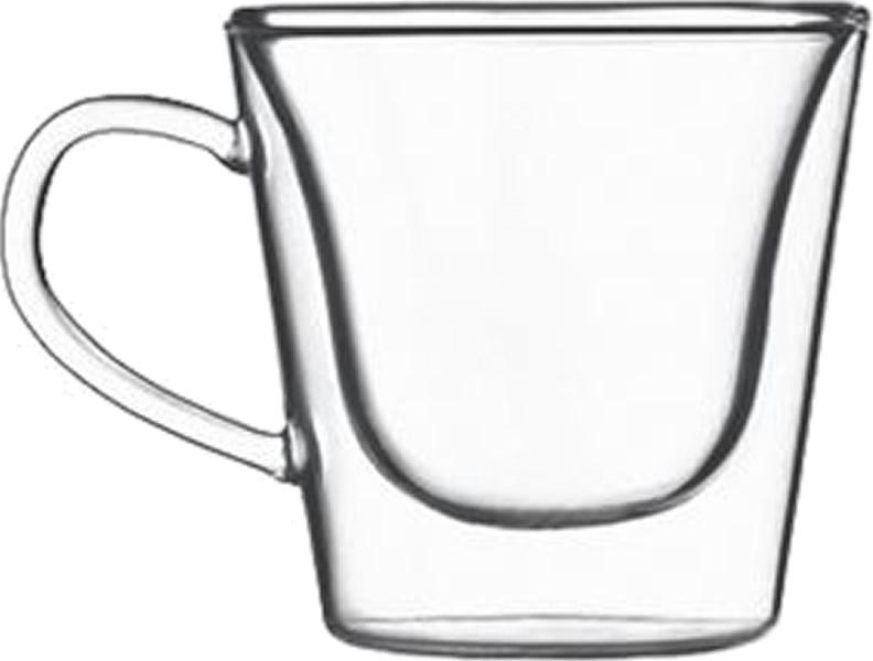 Glas Tasse thermisch Duos te (6stck)